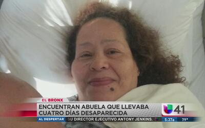 Hallan a abuela sana y salva