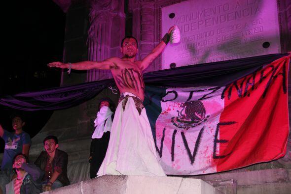 El monumento al Ángel de la Independencia fue escenario de diversas mani...