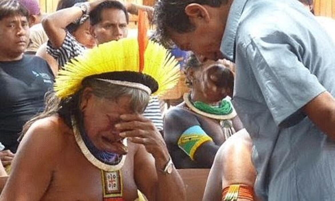 La represa de Belo Monte se construye en el río Xingú, estado de Pará. U...