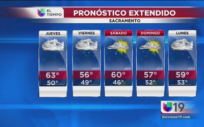 Seguirán las lluvias en Sacramento