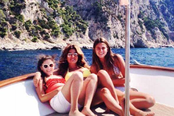 Un paseo en bote durante su paso por la isla de Capri.