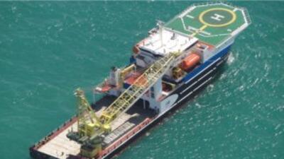El barco multipropósito DP II de Ocreanografía. (Imagen de la página dig...