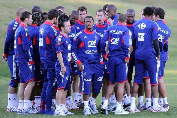 Otra locura fue la negativa de la selección de Francia a entrenar...