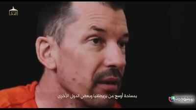 ISIS difunde nuevo video de rehén británico John Cantlie