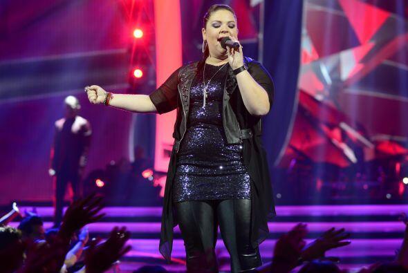Para la gala 3, cantó uno de los grandes hits de Alejandra Guzm&a...