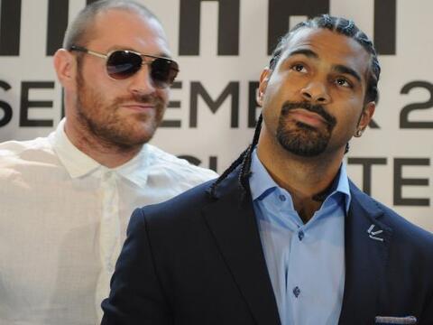 Tyson Fury y David Haye dieron una conferencia de prensa como antesala d...