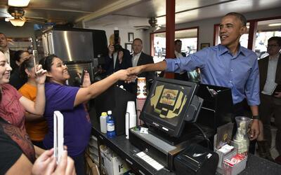 Obama en Torchys Tacos