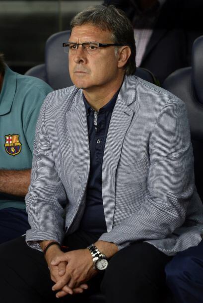 Los 'blaugranas' dedicaban el partido a su entrenador, Gerardo Martino,...
