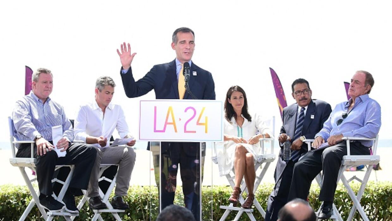 Eric Garcetti, el alcalde LA, expresó la importancia de lograr ser sede...