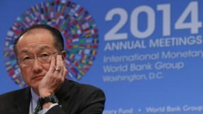 El presidente del Banco Mundial, Jim Yong Kim, habla el viernes en la re...