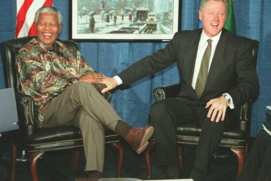Mandela tuvo muchas divertidas reuniones al lado del expresidente de Est...