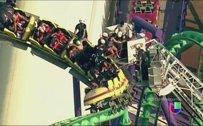 Un rescate de altura en el Six Flags de Maryland
