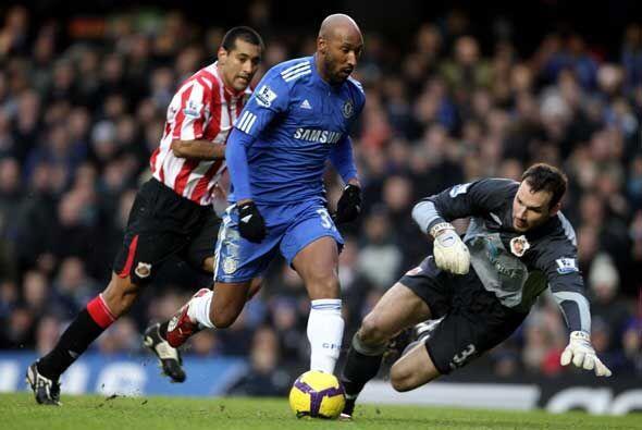 Nicolas Anelka abrió con este gol el festival de goles del Chelsea sobre...