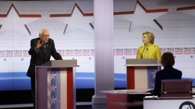 Los dardos que se lanzaron en el debate Clinton y Sanders en Wisconsin d...