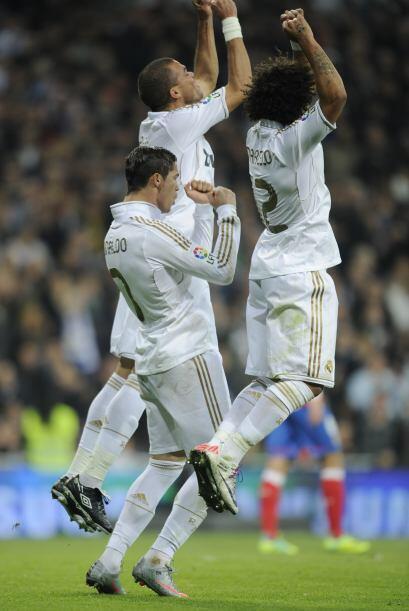El festejo fue puro baile y en portugués, junto a Marcelo y Pepe.