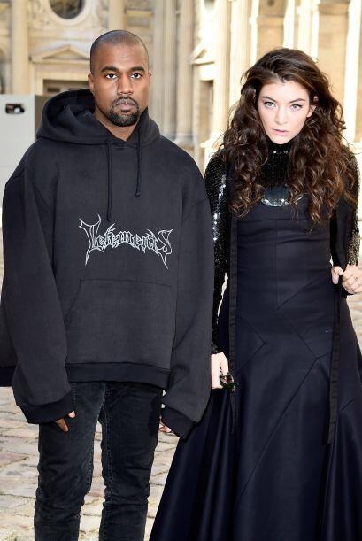Lorde y Kanye West llegaron juntos a la presentación de Christian...