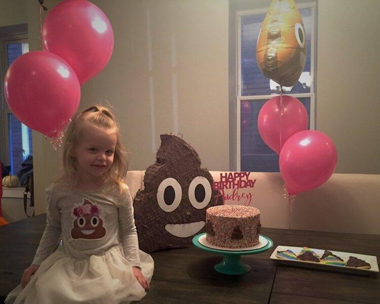 Girl wanted a poop themed birthday