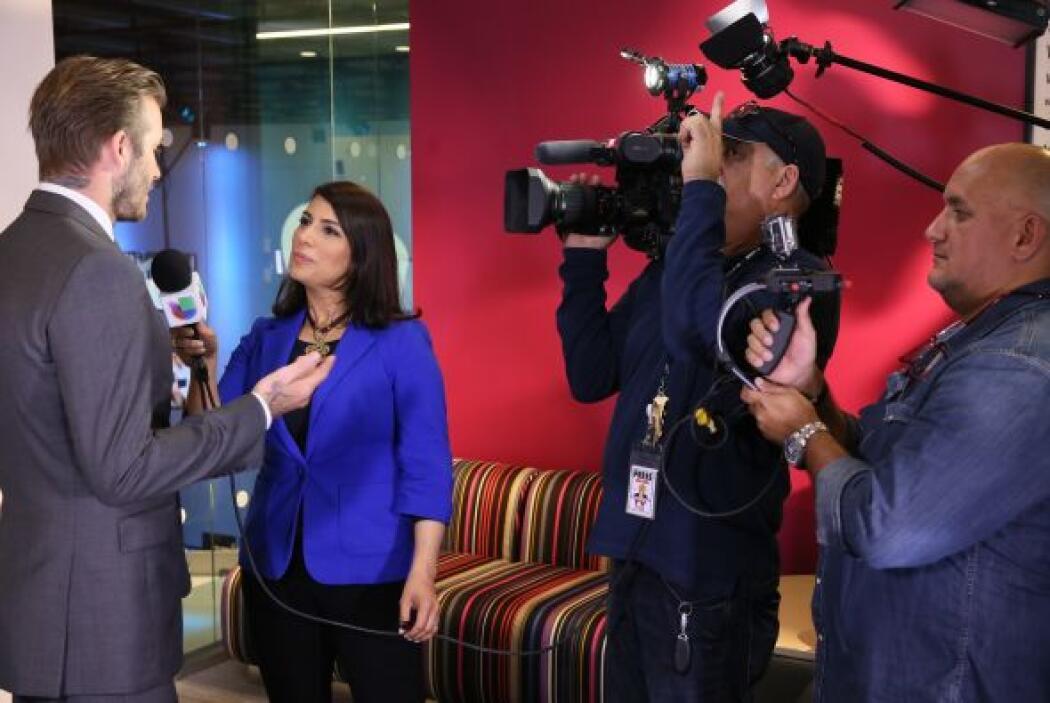 El futbolista en entrevista con Julia Ferrer.