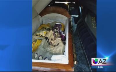 Encuentran droga en una carroza fúnebre en Tombstone