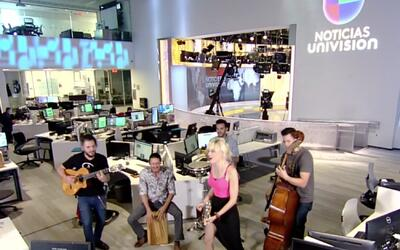 Jenny and the Mexicats live from the newsroom