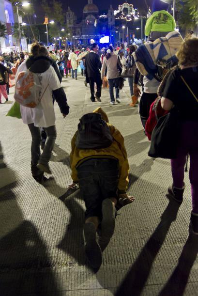 Juan Manuel Daviana, de 21 años, encabeza este año una peregrinación de...
