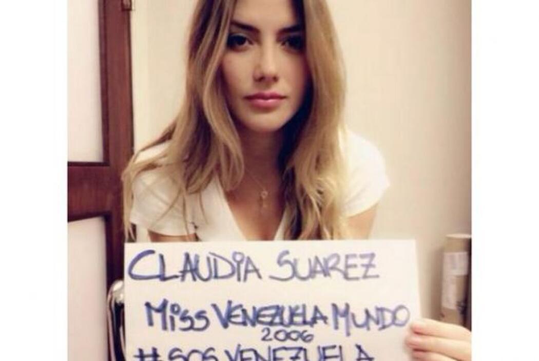Claudia Suárez, Miss Venezuela Mundo 2006, pidió ayuda y no a la violenc...