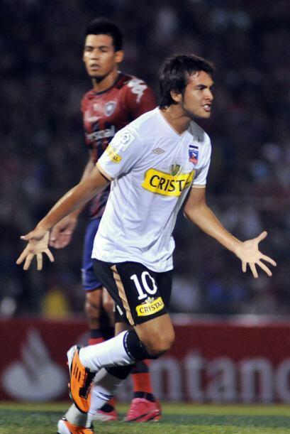 Cristóbal Jorquera (imagen) y Esteban Paredes anotaron para Colo...