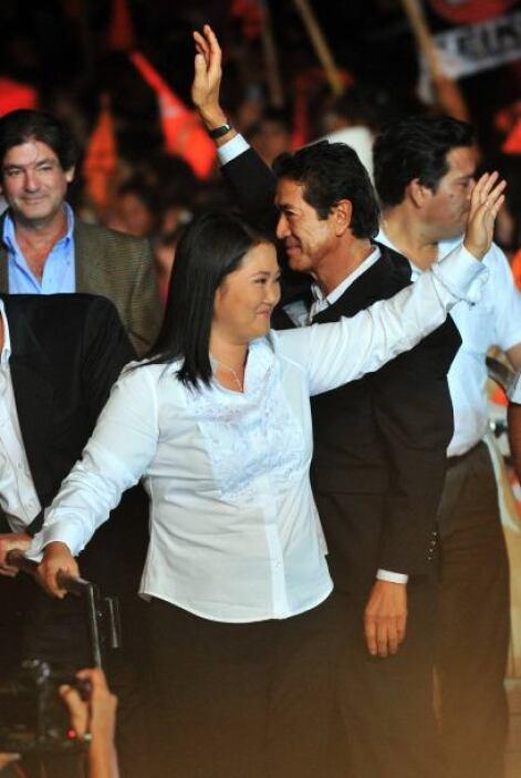 Fujimori sabe que debe luchar con ahínco para alcanzar la presidencia.
