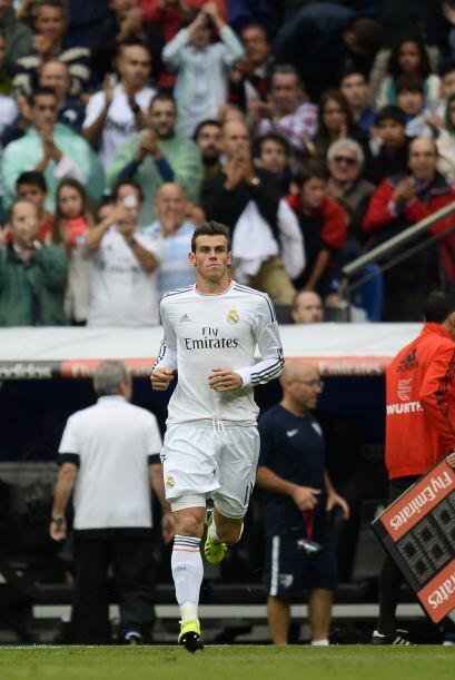 Gareth Bale entró para jugar los últimos 15 minutos.