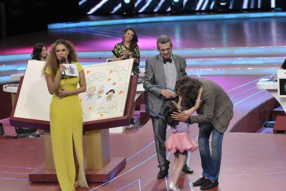 Los jueces disfrutaron mucho poder participar con la pequeña Saraí pues...