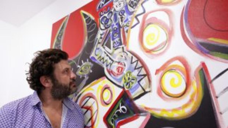 El artista Domingo Zapata.