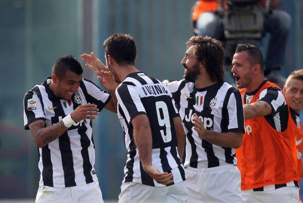 Vidal hizo el único tanto con el que la 'Vecchia Signora' ganó y se mant...