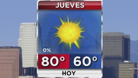Cielo despejado, sol y vientos calmados para este jueves en Los Ángeles