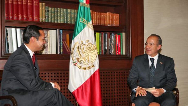 El alcalde de San Antonio Julián Castro se reune con el presidente de Mé...