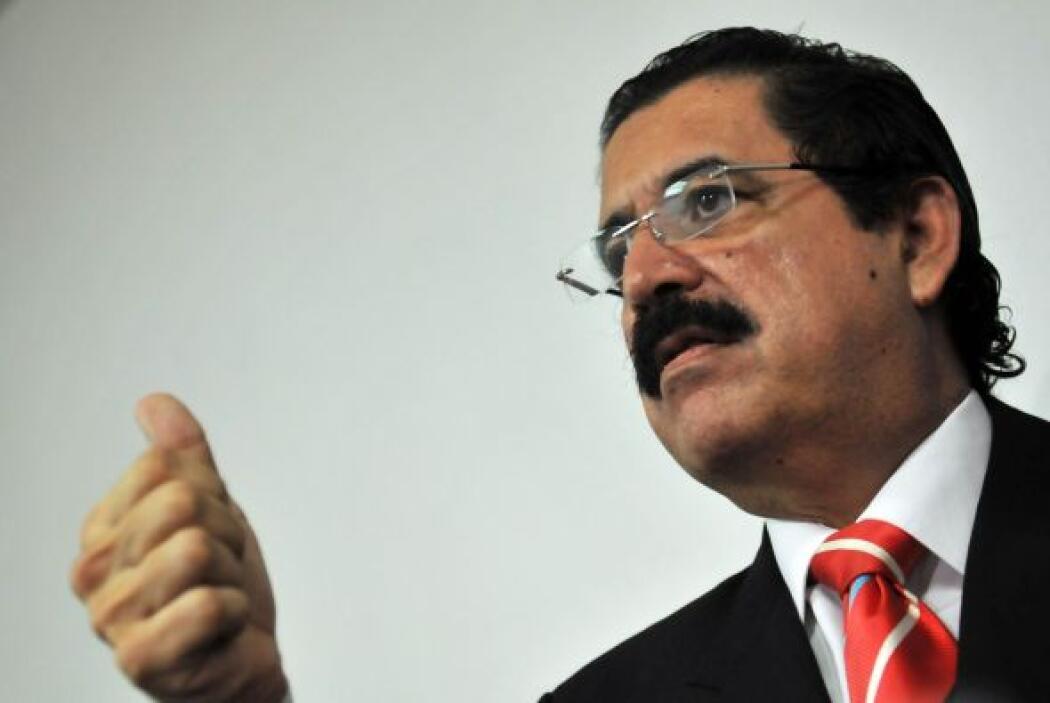 Tras el golpe de estado del 28 de junio 2009, el ex presidente Manuel Ze...