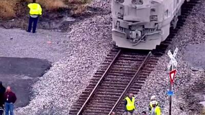 Se estrella tren Amtrak se estrella camino a Chicago