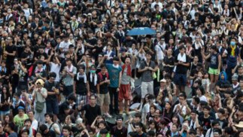 Las autoridades chinas han intentado reprimir las protestas pero miles c...