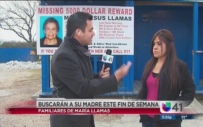 Anuncian plan de búsqueda de Maria Llamas