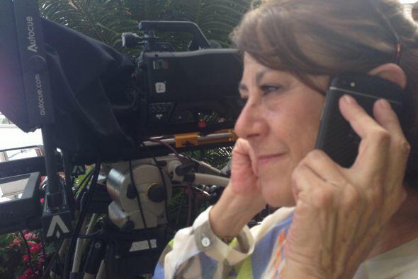 Nuestra productora ejecutiva Pilar campos en acción,