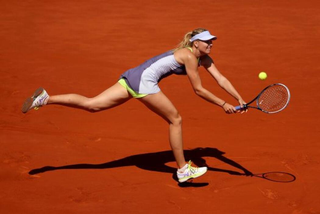 Sharapova ganó su primer título en Roland Garros hace un año para comple...