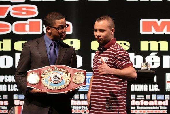 Este es el cinturón que los dos boxeadores se disputarán el 29 de mayo e...