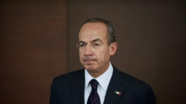 El presidente mexicano Felipe Calderon Hinojosa.