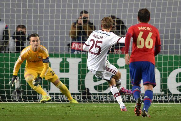 El delantero alemán abrió el marcador a los 22 minutos de...