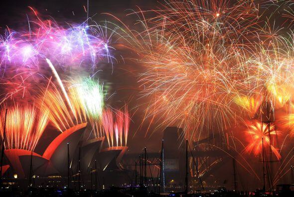 Año Nuevo 2015 en Sidney, Australia.