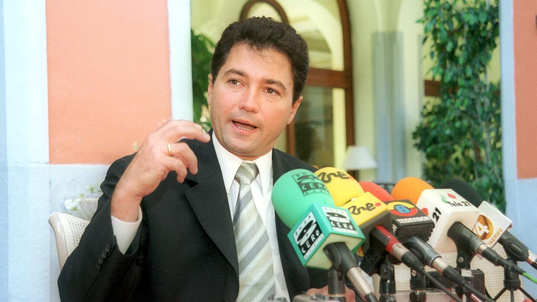 Henrique Fernando Salas Feo en una visita oficial a España. 2001