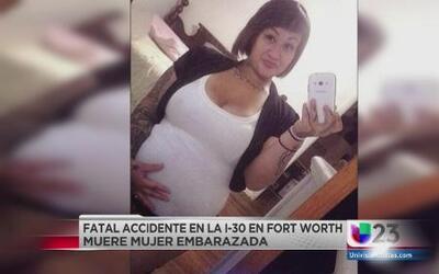 Embarazada perdió la vida en accidente