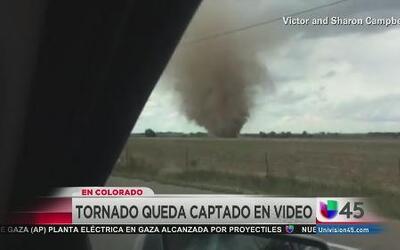 Tornado quedó captado en video