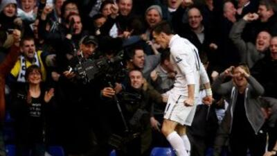 El galés corrió a gritar su gol ante los 'Gunners' a las cámaras de tele...
