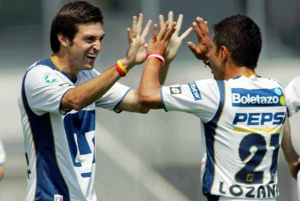La UNAM tuvo un Apertura 2005 donde acumuló 7 puntos obra de dos triunfo...
