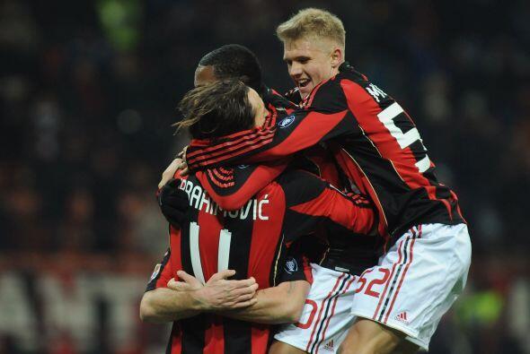 Consiguió otro gol en el último minuto y Milan ganó...